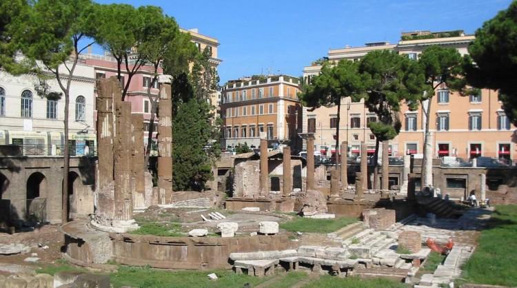 Largo di Torre Argentina square in Rome