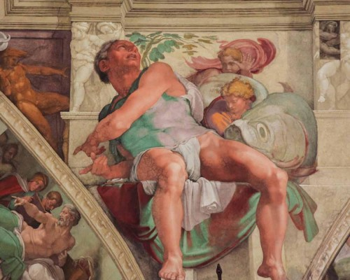 Why did Michelangelo choose Jonah on the Sistine Chapel ceiling?