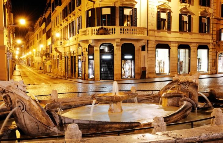 The famous Via Condotti