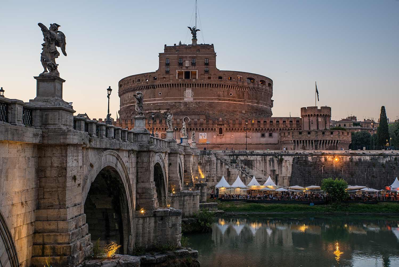 Castel sant angelo twilight