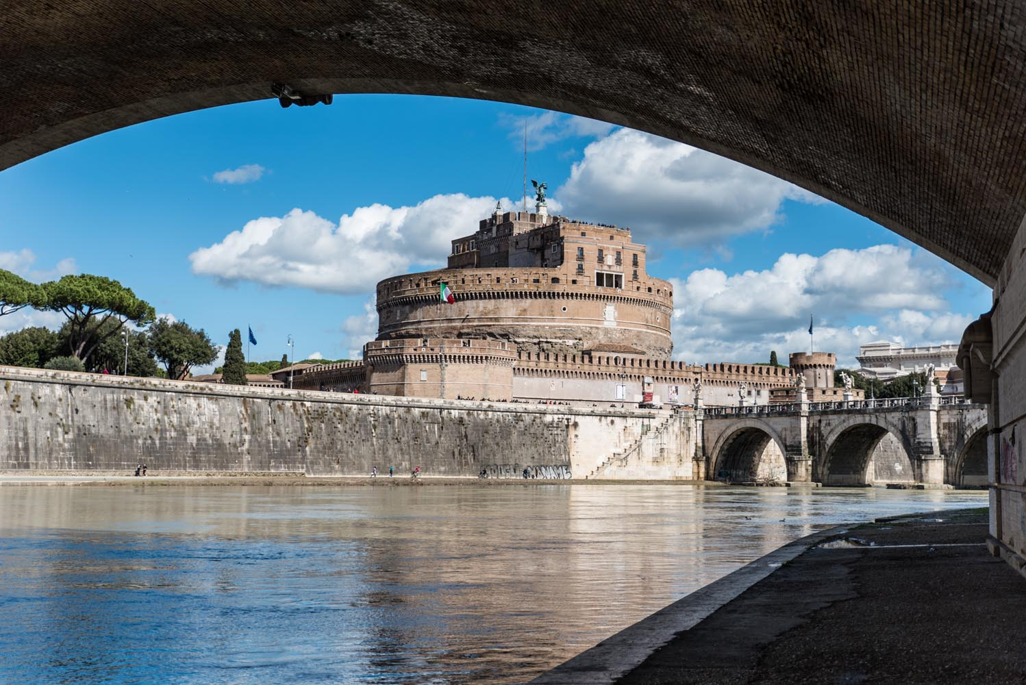 Castle Sant'Angelo from the Tiber River