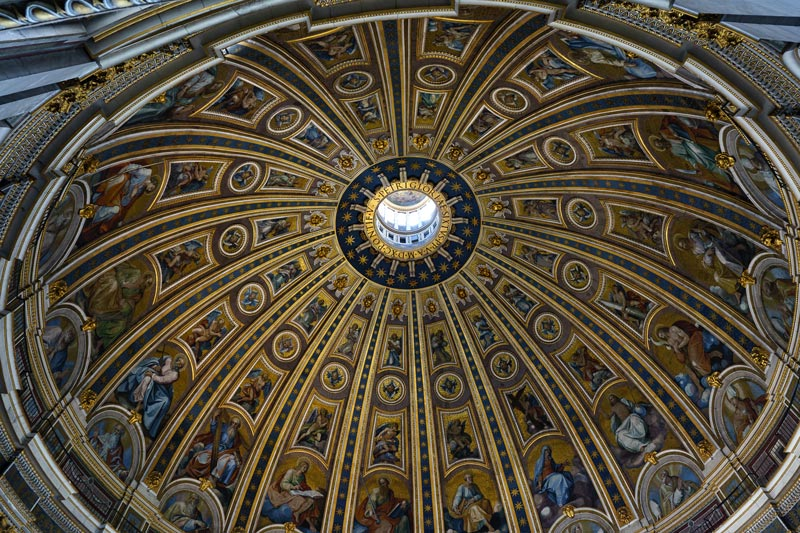 dome and drum of st. peter's Basilica