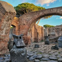 Explore Ostia's bakery, with perfectly preserved flour mills