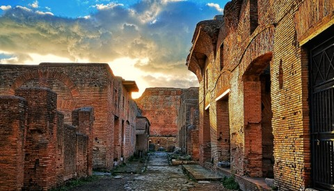 Wander past the spectacular House of Diana in Ostia Antica