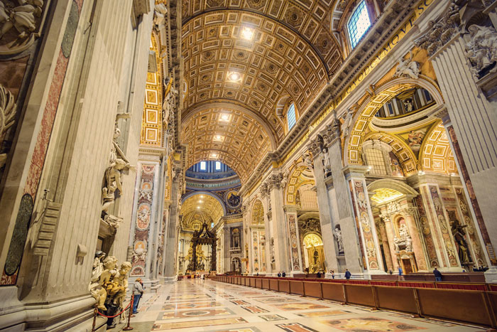 st peters basilica interior