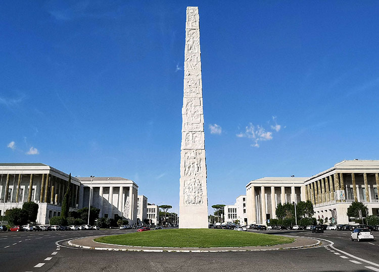 Marconi Obelisk and Museums District, Eur, Rome