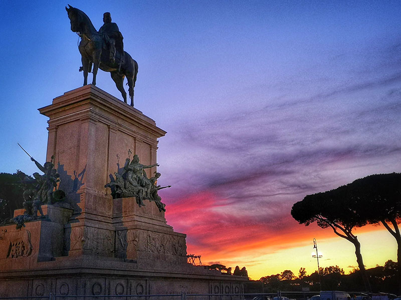 Garibaldi monument, Gianiculum Hill, Rome