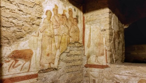 Discover the world of early Christian art in the Catacombs