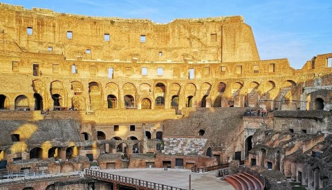 See what the Romans spectators saw from the second level of the Colosseum