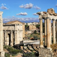 Learn about the architecture of ancient Rome, including the incredible temple of Saturn