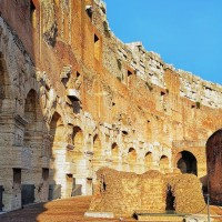 Admire the extraordinary architecture of the ancient world's largest amphitheatre