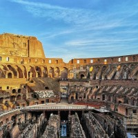 Enjoy the spectacular architecture of the Colosseum from the second tier