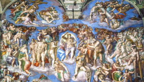 Gaze up in wonder at Michelangelo's awe-inspiring Last Judgement in the Sistine Chapel