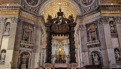 Admire the awe-inspiring grandeur of St. Peter's basilica, the world's largest church