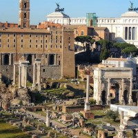 Enjoy spectacular panoramic views across the Roman Forum and Palatine hill