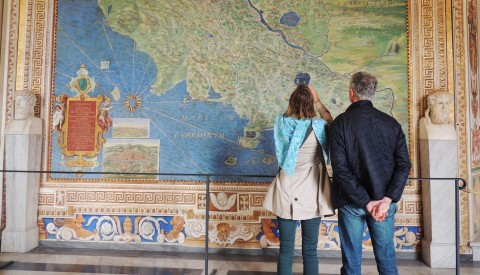 Gaze on the beautiful frescoes in the Vatican Museums' Hall of Maps