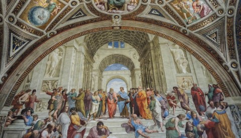 Unravel the complex meanings of Raphael's iconic School of Athens