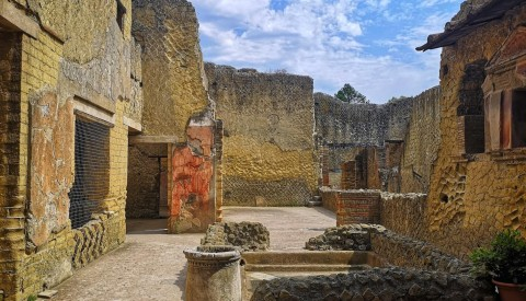 Wander through the evocative remains of Herculaneum's luxurious patrician villas