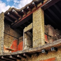 At Herculaneum, even the upper storeys of buildings have survived to this day