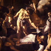 Drink in the drama of Caravaggio's Martyrdom of Saint Matthew