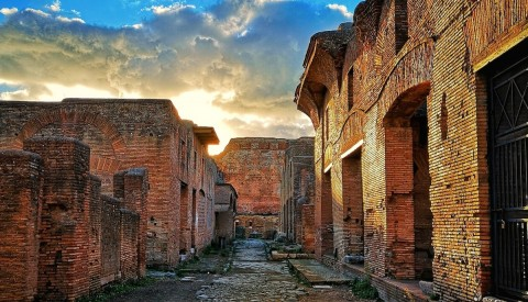 Admire the extraordinary architecture of ancient Rome's once bustling port